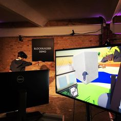 An awesome Virtual Reality pic! Taucht in die virtuelle Realität ein mit der Blockbuilder-Demo! @re_publica ! #VRhere #edfvr #virtualreality #rpten #berlin #germany #digital #exhibition #new #innovation #occulus #newworld #future #revolution by edfvr check us out: http://bit.ly/1KyLetq
