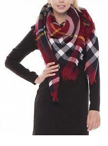 Women-Large-Blanket-Oversized-Tartan-Scarf-Plaid-Checked-Wrap-Shawl-Zara-Styles