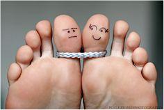 Toe Art: Marriage by walker1812