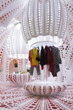 Louis Vuitton at Selfridges by Yayoi Kusama, London store design