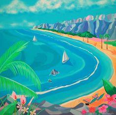See original image Retro Kunst, Retro Art, Art And Illustration, Vaporwave Art, Tropical, Pixel Art, Art Inspo, Watercolor Art, Pop Art