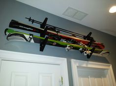multi ski wall rack for home