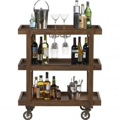 Dining Room: Small bar cart.  I want one with storage for 3 bottles of wine.  Ask Dad if we can make one together.