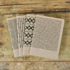 love these pawling notebooks on etsy - graphic and cute! Diy Notebook, Handmade Notebook, Handmade Books, Washi, Cute Notebooks, Journals, Bookbinding Tutorial, Book Binding, Journal Covers
