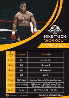 This is the Mike Tyson Workout. This killer workout routine is how one of the all-time great heavyweights (Mike Tyson) got in such good shape. Boxercise Workout, Boxing Workout Routine, Kickboxing Workout, Gym Workout Videos, Boxing Workout With Bag, Calisthenics Workout Routine, Heavy Bag Workout, Body Workouts, Mike Tyson Workout