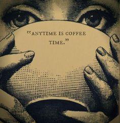 Café E Arte... A qualquer hora é hora do café.