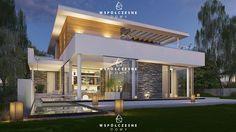 Zdjęcie projektu Villa design L Villa Design, Home Fashion, Mansions, House Styles, Home Decor, Houses, Facades, Plants, Projects