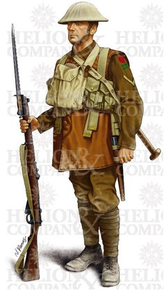 LANCE CORPORAL OF 'B' COMPANY 2ND KING'S OWN YORKSHIRE LIGHT INFANTRY AS EQUIPPED FOR THE NIGHT OPERATION ON THE PASSCHENDAELE RIDGE ON 2 DECEMBER 1917 (Limited Edition Art Print)