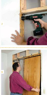 Pocket Door Installation - How to Install Pocket Doors - Popular Mechanics Pocket Door Installation, Sliding Pocket Doors, Swinging Doors, Bathroom Doors, Home Repair, Home Projects, Home Remodeling, Home Furnishings, Diy Home Decor