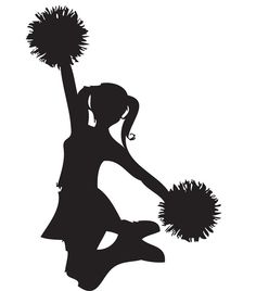 free cheer sillohette clip art black and white cheerleader clip rh pinterest com cheerleading clipart free download cheer up clipart free