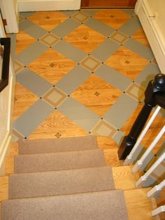 stencil on wood floor | ... Finishes on CEILINGS AND PAINTED FLOORS | Audrey's Artistic Design