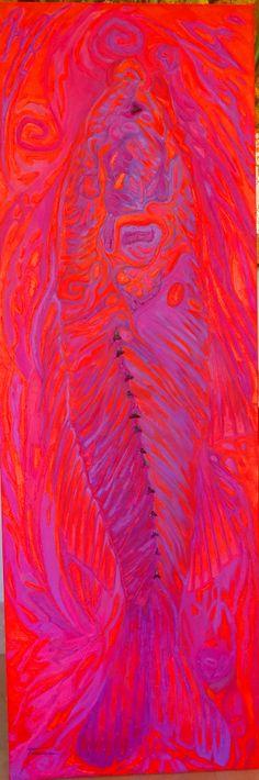 "ART. TANIA CAMARA. ""FOSSIL 2. "". OLEO SOBRE TELA. 60 X 1.80 MTRS.2015"