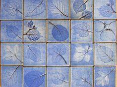 Handmade stoneware tiles by Nanna Taksoe-Jensen