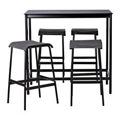 $299 GARPEN Bar table and 4 bar stools IKEA Rustproof aluminum frame is both sturdy and lightweight.