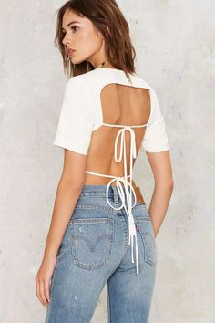 Lavish Alice Keep It Open Backless Top - Clothes | Blouses