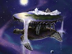 Medicina de la Tortuga. Tierra, raíces, volver al origen. Longevidad. Terry Pratchett Discworld, Sun Moon Stars, Art Blog, Concept Art, Northern Lights, Character Design, Creatures, The Incredibles, Fantasy
