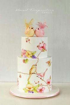 Pastel acuarela Wedding cake