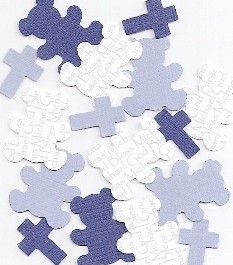 Personalized Baptism Decorations for Boys   Blue by SetToCelebrate, $3.75