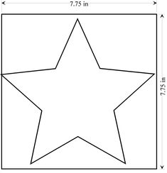 Printable full page large star pattern. Use the pattern for crafts ...