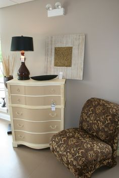 white and offwhite dresser