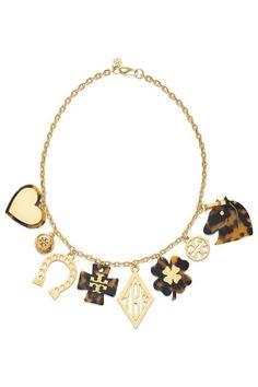 Tory Burch's horse-centric Tilsim charm necklace