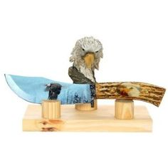 Bald Eagle Collector Stag Hunting Knife