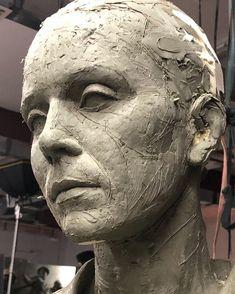 Plaster Sculpture, Sculpture Head, Human Sculpture, Face Drawing Reference, Ceramic Sculpture Figurative, Anatomy Sculpture, Art For Art Sake, Clay Art, Ceramic Art