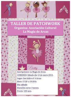 Todos los sábado a partir de las 17:30 horas disfrutaremos con el taller de Patchwork.
