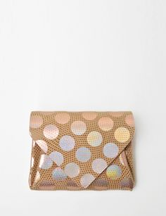 Carmine | tokyo mini polka dot leather wallet (via shopbird.com)
