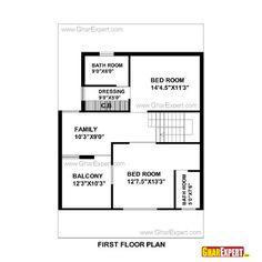 House plan for 32 feet by 40 feet plot plot size 142 square yards house plan pinterest yards - House naksha software ...