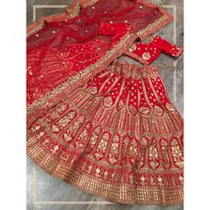 Red velvet heavy embroidered bridal lehenga choli Red Lehenga, Velvet Material, Layers, Indian, Traditional, Stone, Canvas, Wedding, Design