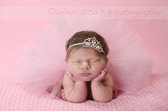 Newborn Pink Tutu and Headband Set - Princess Baby Tutu - Tiara and Tutu Newborn Outfit - First Photo by fabflowerheadbands on Etsy https://www.etsy.com/listing/270862242/newborn-pink-tutu-and-headband-set