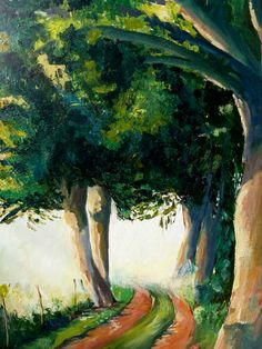 Artwork >> Sancelme Marie-Noelle >> Along the way  #artworks, #nature, #paining, #masterpiece, #trees