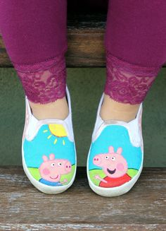 Ed's Peppa Pig shoes