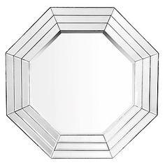 Geometrically shaped Octagono Mirror, $249.00 #ZGallerie