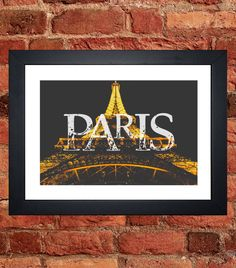Items similar to Eiffel Tower Night Print on Etsy My Etsy Shop, Tower, Night, Digital, Unique Jewelry, Handmade Gifts, Prints, Vintage, Art