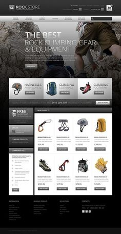 I think it's gorgeous! Yes or no?   Climbers Gear Magento Theme CLICK HERE! live demo  http://cattemplate.com/template/?go=2jaZrTd