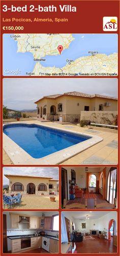 3-bed 2-bath Villa in Las Pocicas, Almeria, Spain ►€150,000 #PropertyForSaleInSpain