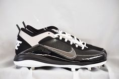 Nike Air Show Elite 2 Metal Cleats Baseball Black Metallic Silver size 14 NEW #Nike