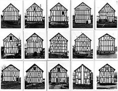 Photos of Fachwerkhäuser by Bernd and Hilla Becher.
