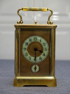 Reloj de carruaje antiguo de horas y medias | eBay
