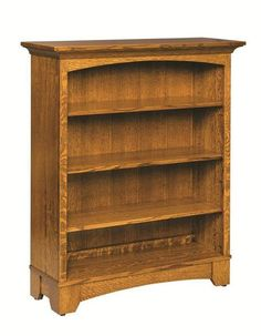 Amish Noble Mission Bookcase Choose 3 or 5 adjustable shelves and Amish woodworkers will craft a Noble just for you. Made with solid wood you select as well as finish color.