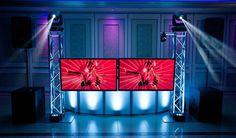 The DJ video facade offered by MSV Entertainment #videofacade #tvs #wedding #pros @villaborghese