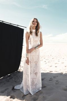 Luxe Bohemian Gowns with  embroidery
