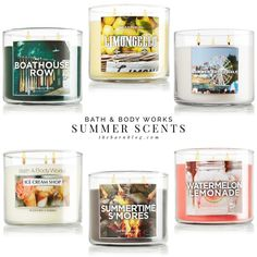 Bath and Body Works Summer Candle Scents | thebarnblog.com