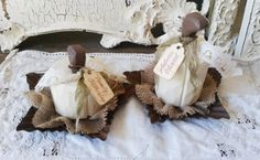 White pumpkin table decor wood pumpkins with by PaperAndMache, $20.00