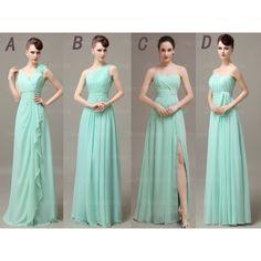 Long bridesmaid dresses, mismatched bridesmaid dresses, custom bridesmaid…