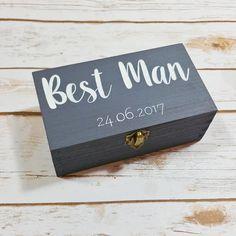 Personalised Best Man box  Wooden Wedding box  Groomsmen