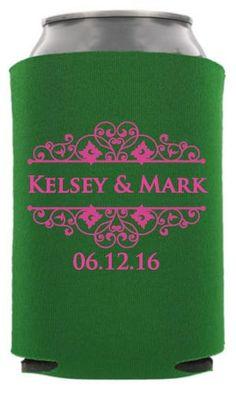 TWC-6100 - Fairy Tale Wedding Can Coolers #koozies