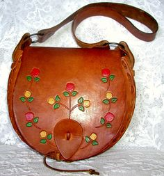 Fabulous 1970s Vintage #Hippie #Boho Hand Tooled Purse by TheVintageHandbag, $88.00